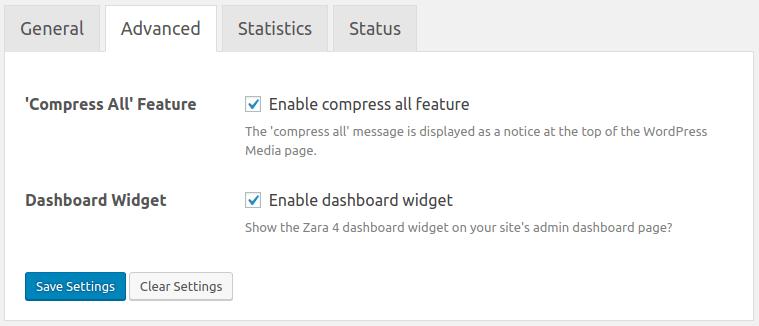 Dashboard Widget Settings